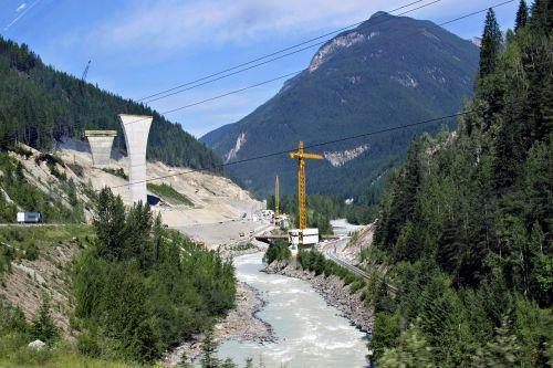 new bridge building site construction