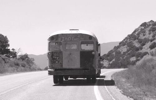 new mexico turquoise trail old bus