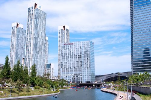 new songdo city central park park incheon