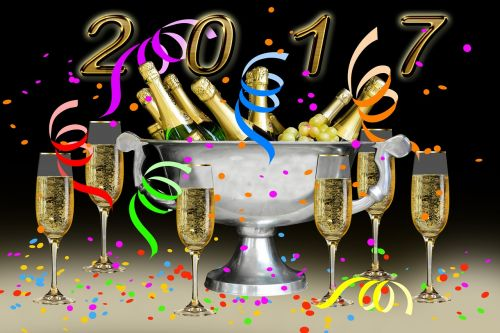 new year 2017 champagne new year's eve