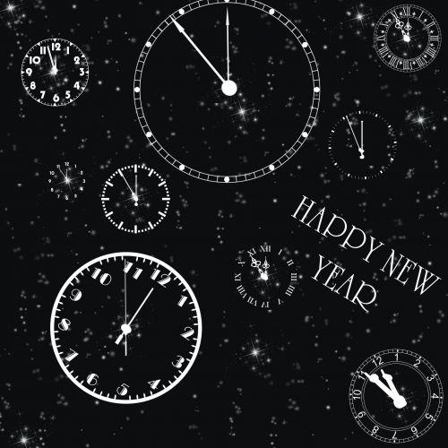New Year Clocks