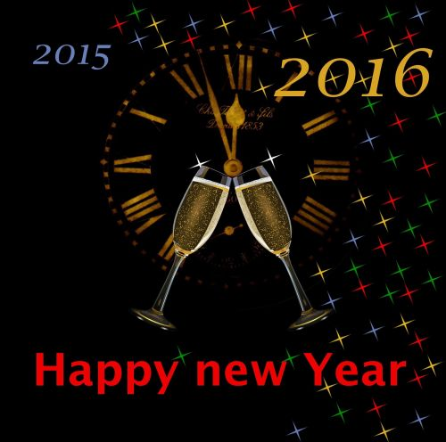 new year's eve new year 2016 clock
