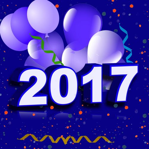 new year's eve 2017 balloons