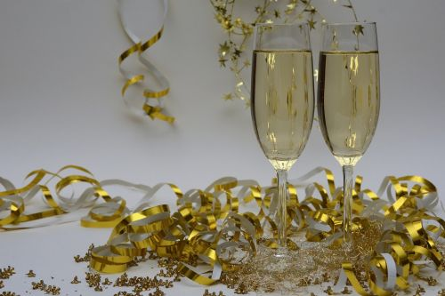 new year's eve new year's greetings champagne