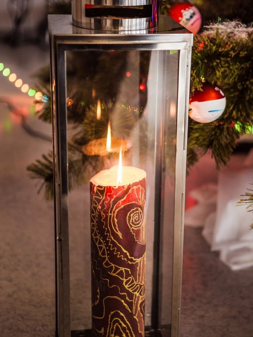 new year's eve candle holiday