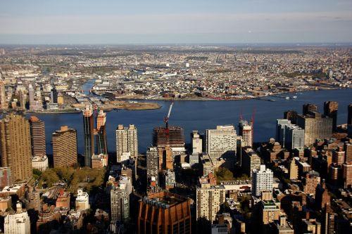 new york empire state building sky