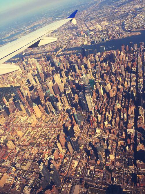 new york a bird's eye view aircraft