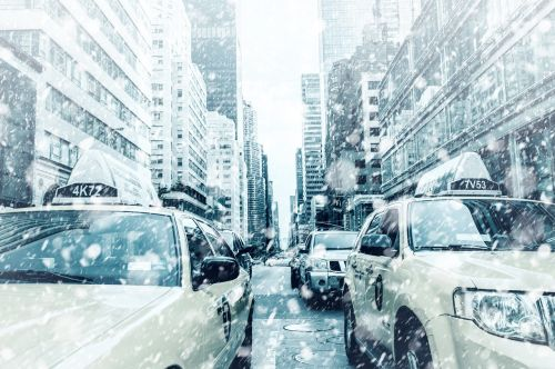 new york taxi road