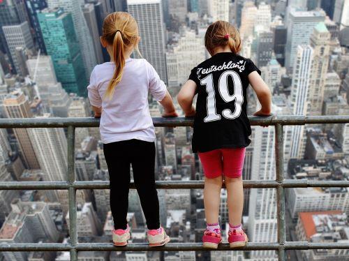 new york view girl