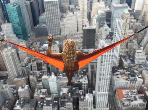 new york woman hammock