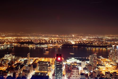 new york skyline night