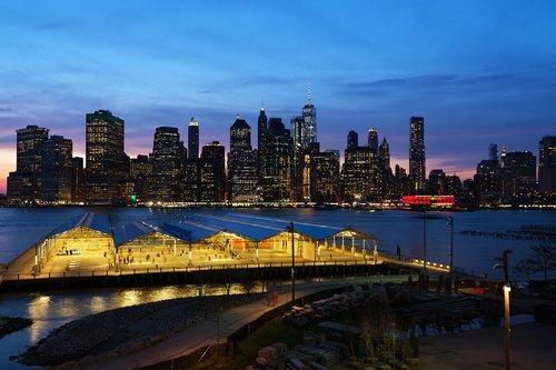 new york  manhattan  brooklyn heights