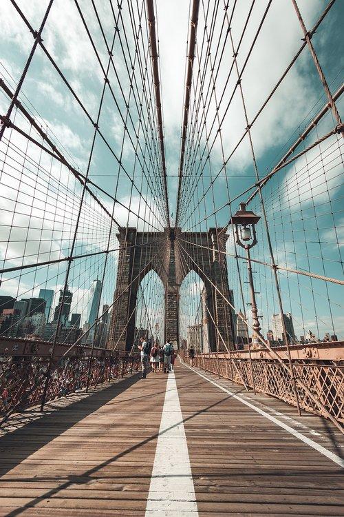 new york  usa  brooklyn bridge