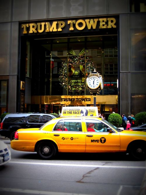 new york taxi cab trump tower