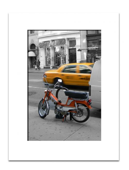 new york moped yellow cab