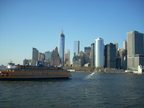 new york city skyline staten island ferry