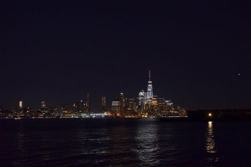 new york city skyline night