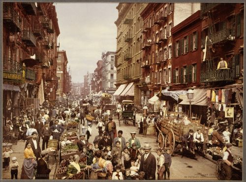 new york city,1890,vintage,mulberry street,new york,manhattan,usa,culture,city,immigration,america,immigrants,urban,life,photocrom
