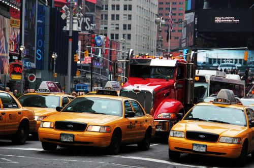 new york times square yellow cabs broadway
