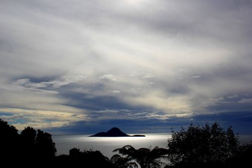 new zealand landscape whale island