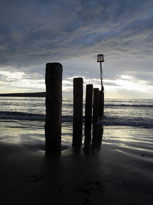 newport beach wales clouds