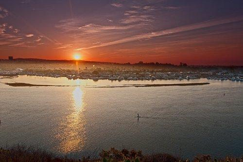 newport beach  orange county  bay sunset