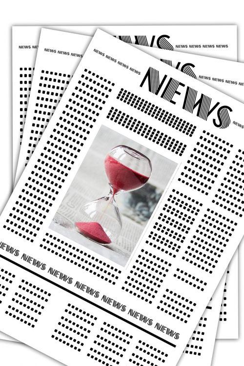 news newspaper hourglass