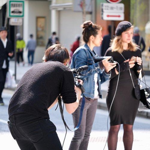 news media  cameraman  video recording