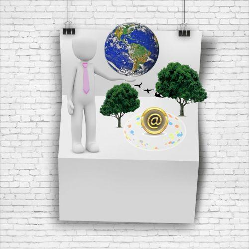 newsletter news terrestrial globe