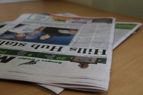 newspaper news print
