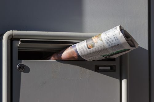 newspaper newspaper delivery mailbox