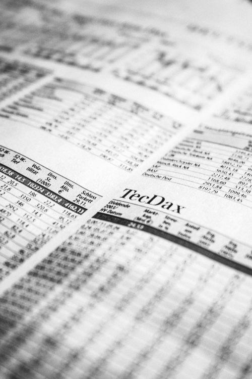 newspaper stock exchange stock market