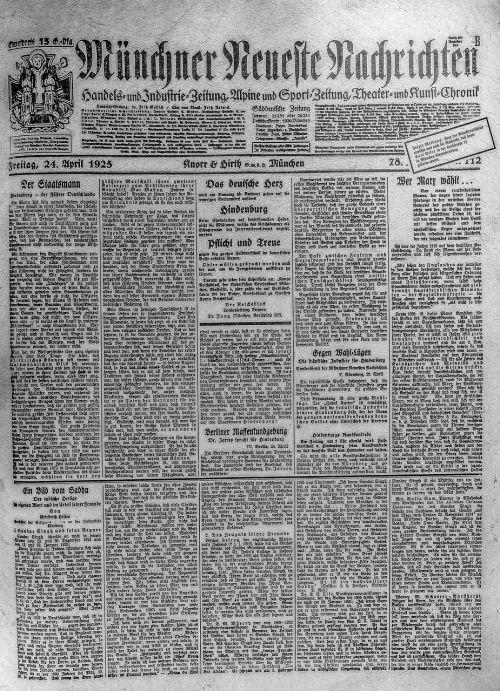 newspaper old 1925