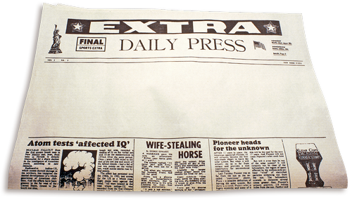 newspaper  extra extra  daily paper