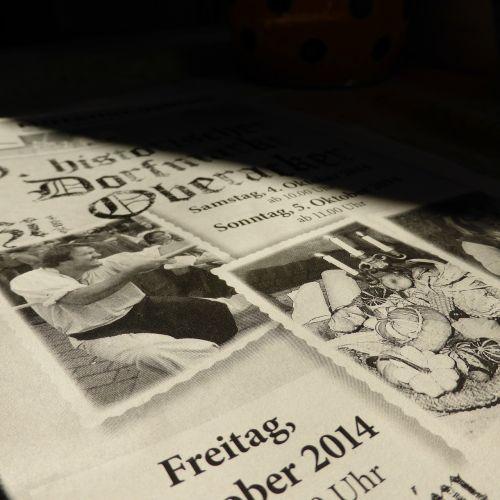 newspaper magazine text