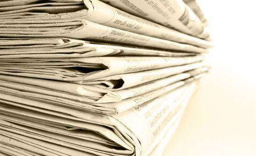 newspaper stack newspapers