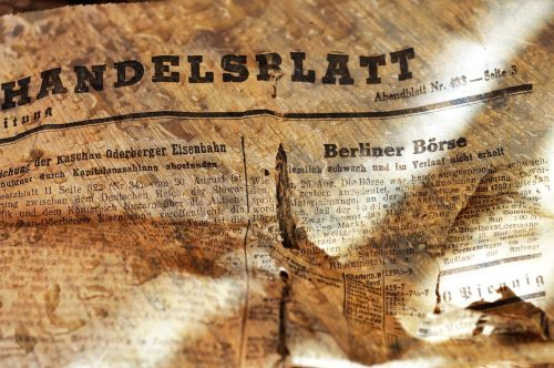 newspaper daily newspaper handelsblatt
