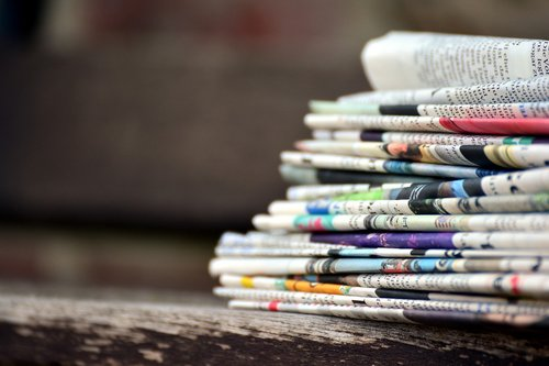 newspapers  paper stack  press