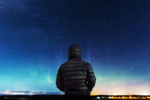 nght sky night man