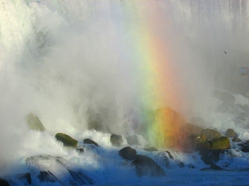 niagara falls rainbow waterfall