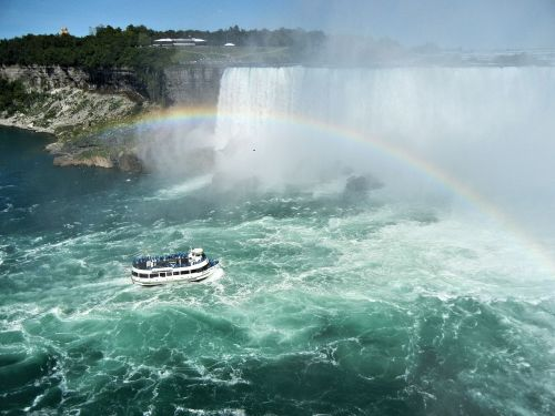 niagara falls maid of the mist rainbow