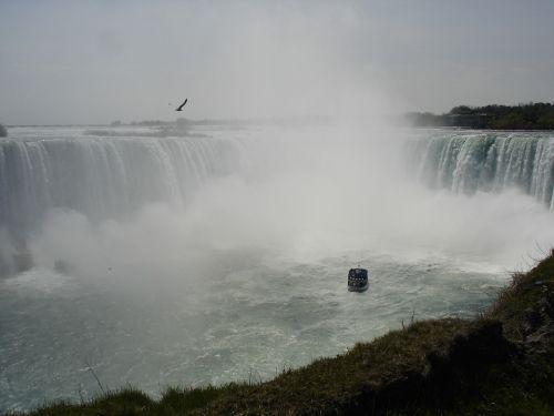 niagara if,Kanada,krioklys,boot,kajakas,vanduo,murmur,putos,riaumojimas,Kelionės tikslas,laivas,vandens masė,upė,milžiniškas,purkšti,gamta,Rokas,Niagara,uolos,vandens siena,sienos