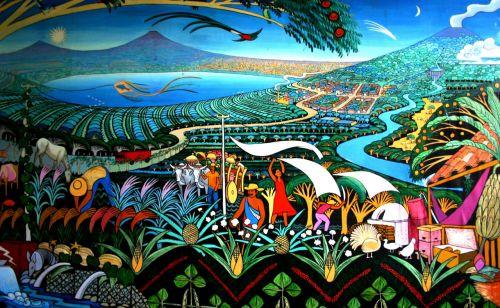 nicaragua murals lake