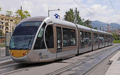 nice tram futuristic