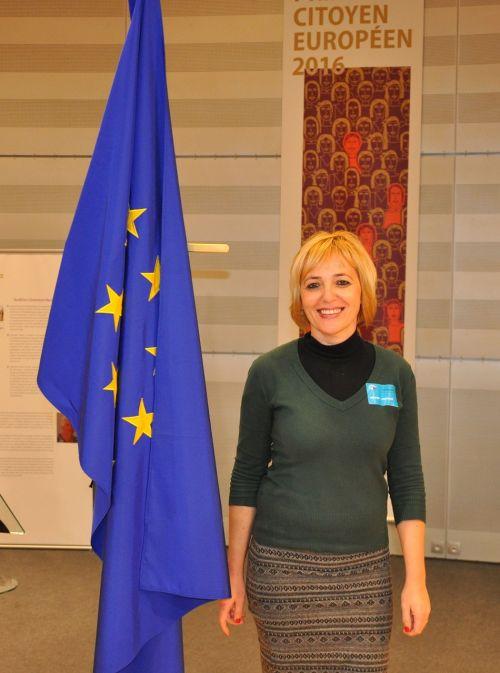 nice smile european lady