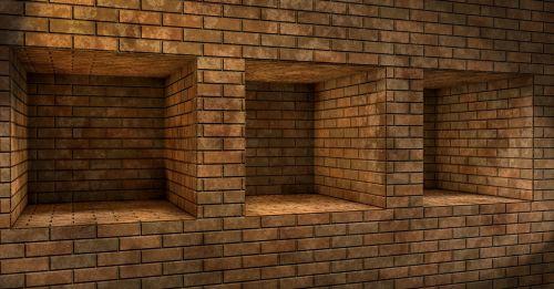 niche wall brick
