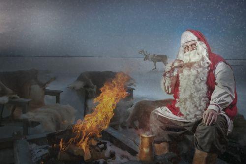 nicholas santa claus campfire