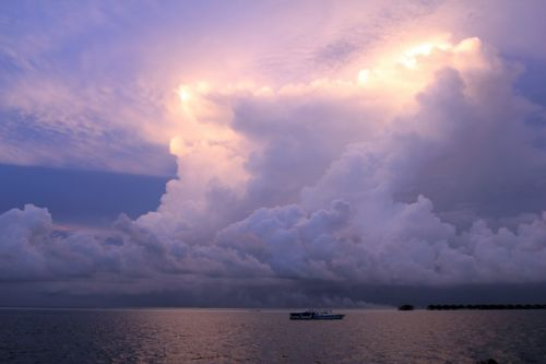 The Sky Over The Maldives