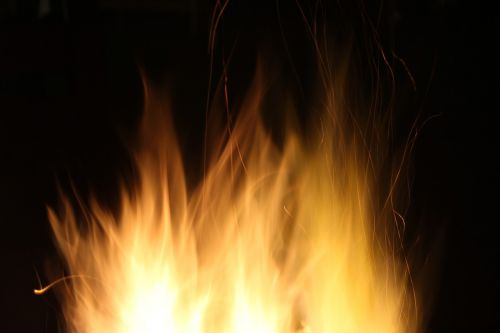 night yellow fire