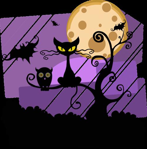 night halloween moon